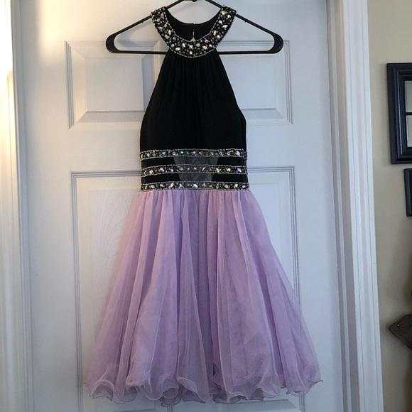 Windsor Dresses Black And Purple Homecoming Dress Poshmark